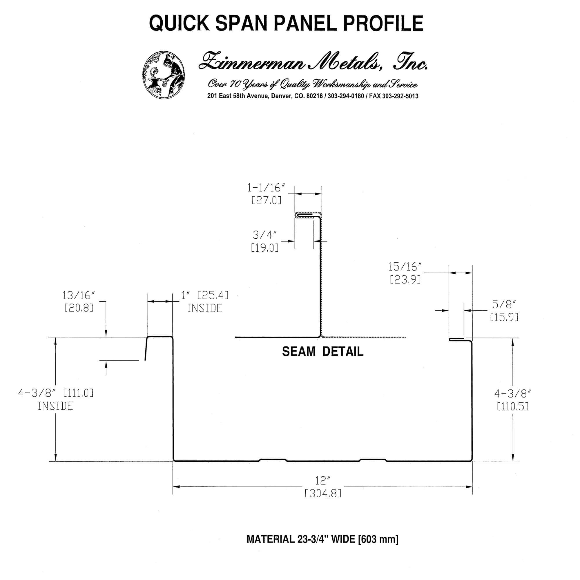 QuickSpan Profile 2014 - EZ Metal